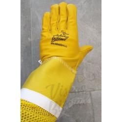 Odinės pirštinės su ventiliacija, geltonos