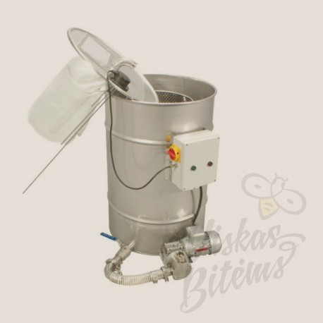 200L talpykla medaus filtravimui su pompa