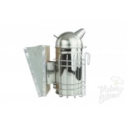 Dūminė vidutinė 26 cm, nerūdijančio plieno, su mikšta versta oda